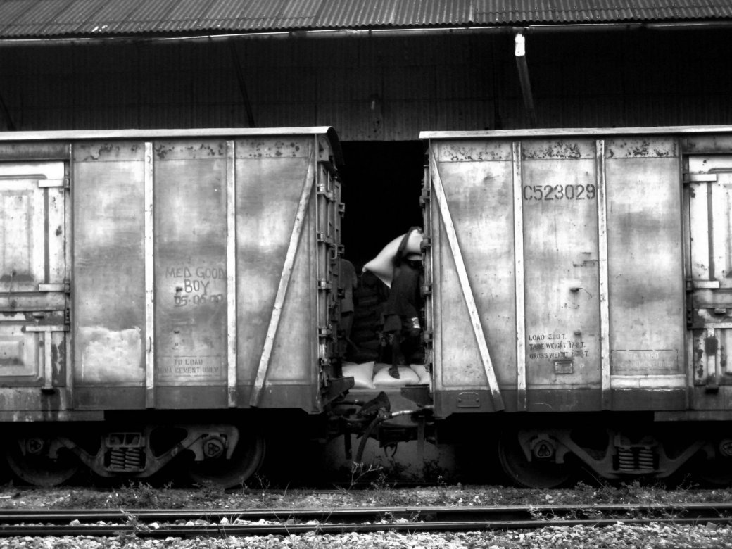 Laborer, Mombasa train station.