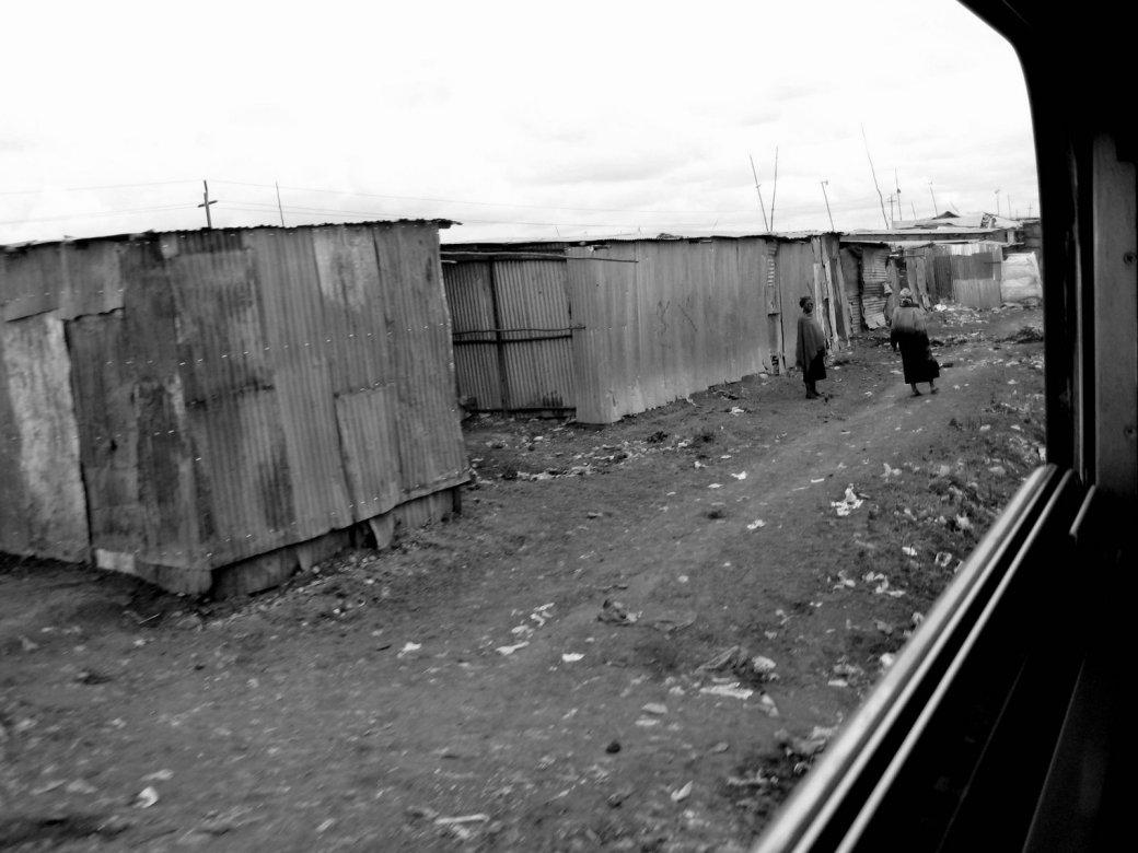 Nairobi shantytown.